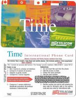 NUOVA- ITALIA-TELECOM INTERNATIONAL -TIME-  DA E. 5,00 - Schede GSM, Prepagate & Ricariche