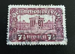 1919 Michel-Nr. 289A Mit Lochung Gestempelt - Gebruikt