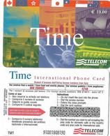 NUOVA- ITALIA-TELECOM INTERNATIONAL -TIME-  DA E.10,00 - Schede GSM, Prepagate & Ricariche