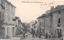 CONFOLENS - Rue Saint-Barthélemy - Hôtel Des III Piliers, E. Tournier - Confolens