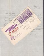 Australia Unofficial COOMA NSW 1955 FDC Cover Original Letter SMEDSTAD Oslo Norway Nurse Krankenschwester ROYAL Cachet - Primo Giorno D'emissione (FDC)