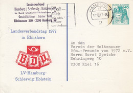PP 100/55a  Landesverbandstag 1977 In Elmshorn BRPh, - LV-Hamburg-Schleswig-Holstein, Hamburg 3 - Privatpostkarten - Gebraucht