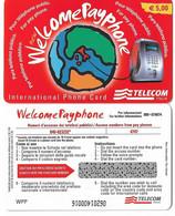 NUOVA- ITALIA-TELECOM INTERNATIONAL -WELCOME  PAYPHONE - Schede GSM, Prepagate & Ricariche