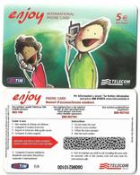 NUOVA- ITALIA-TELECOM INTERNATIONAL ENJOY - Schede GSM, Prepagate & Ricariche