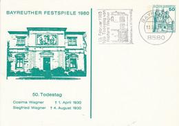 PP 103 C1/1  Bayreuther Festspiele 1980 - 5. Todestag Cosima Wagner 1.Aprile 1930 - Siegried Wagner 4.Aug. 1930, Bayreut - Privatpostkarten - Gebraucht