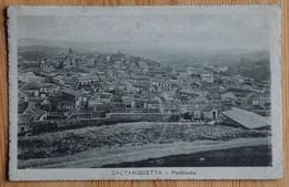 Caltanissetta - Panorama - Dos Taché Et 1 Timbre Retiré - (n°21444) - Caltanissetta