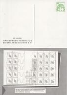 PP 104/16**  95 Jahre Harburger Verein Für Briefmarkenkunde E.V., - Privatpostkarten - Ungebraucht