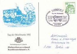 PP 104/132a  Tag Der Briefmarke 1981 - Philatelistenverband Norddeutschland, Lübeck 1 - Privatpostkarten - Gebraucht