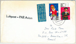 64797 - GERMANY DDR - POSTAL HISTORY - AIRMAIL  COVER - CIRCUS  1988 - Briefe U. Dokumente