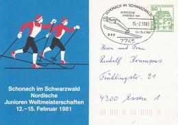 PP 104/90  Schonach Im Schwarwald Nordische Junioren Weltmeisterschaften 1981, Schonach Im Schwarwald - Privatpostkarten - Gebraucht