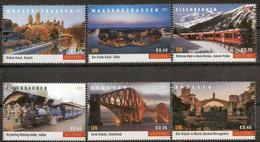 """ONU Vienne 2021 - Unesco - Patrimoine Mondial """"Waterways, Railways And Bridges"""" Détachés De Carnet De Prestige ** - Ungebraucht"""