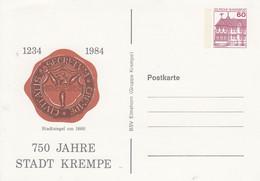 PP 106/159  1234 - 1984 750 Jahre Stadt Krempe - Stadtsiegel Um 1860 - Privatpostkarten - Ungebraucht