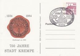 PP 106/159  1234 - 1984 750 Jahre Stadt Krempe - Stadtsiegel Um 1860, Krempe,Holst. - Privatpostkarten - Gebraucht