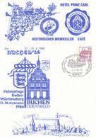PP 106/D2/7  Hotel Prinz Carl - Historischer Weinkeller - Cafe - Buchen`86 Heimattage In Baden-Würtemberg, Buchen,Odenwa - Privatpostkarten - Gebraucht
