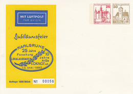 PP 128/4**  Jubiläumsfeier Karlsruhe- 25 Jahre Forschung Lokalausgaben - 10 Jahre Arge Loknot E.V - Privatpostkarten - Ungebraucht