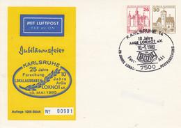 PP 128/4  Jubiläumsfeier Karlsruhe- 25 Jahre Forschung Lokalausgaben - 10 Jahre Arge Loknot E.V - Privatpostkarten - Gebraucht