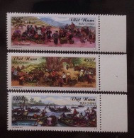 Vietnam Viet Nam MNH Perf Stamps 2017 : Vietnamese Markets In Highland, Village & Floating Market / Horse / Fruit - Vietnam