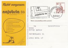PP 148/2 Nichr Vergessen: Najubria 86 - 10. Nationale Ausstellung Junger Briefmarkenfreunde, Lüdenscheid 1 - Privatpostkarten - Gebraucht