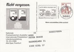PP 148/5 Nicht Vergessen:  Naposta`89 - Iphla`89 - Nat. Postwertzeichen - Litraturausstellung, Lüdenscheid 1 - Privatpostkarten - Gebraucht