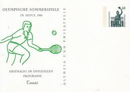 PP 151/78** Olympische Sommerspiele In Seoul 1988 - Erstmalig Im Offiziellen Programm Tennis - Privatpostkarten - Ungebraucht