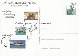 PP 151/98**  Tag Der Briefmarke 1992 Soest, 25 Oktober 1992 - 500 Jahre Entdeckung Amerikas - Privatpostkarten - Ungebraucht