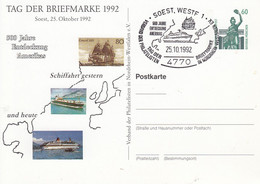 PP 151/98  Tag Der Briefmarke 1992 Soest, 25 Oktober 1992 - 500 Jahre Entdeckung Amerikas, Soest,Westf. 1 - Privatpostkarten - Gebraucht