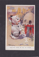 Dog Card  -  Bonzo  -  GE Studdy  -  Give My Love To All At Home !!.  1928.  Valentines Series.   (028). - Perros