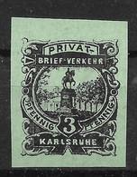 Privatpost Karlsruhe, Guter Wert Der Ausgabe Der Privat-Brief-Verkehr-Gesellschaft  Von 1899 - Private