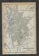 CARTE PLAN 1911 - MONTMORENCY VAL D'OISE - LA CHATAIGNERIE - PARC DE LA GRANGE - STATION DE SOISY - Cartes Topographiques