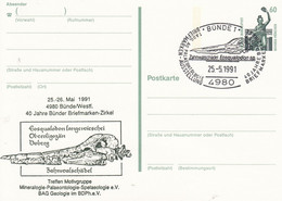 PP 152 Y  ??  Treffen Motivgruppe Mineralogie-Palaeontolie-Spelaelogie E.V., Bünde 1 - Privatpostkarten - Gebraucht