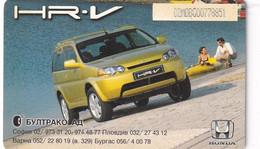 BULGARIA(chip) - Honda HR-V, Mobika Telecard 60 Units, Tirage 14000, 06/99, Used - Automobili