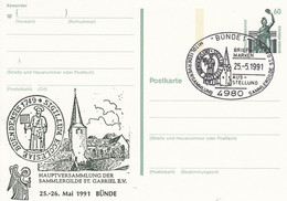 PP 152 Y  ??  Hauptversammlung  Der Sammlergilde St. Gabriel E.V.,  25-26. Mai 1991 Bünde, Bünde 1 - Privatpostkarten - Gebraucht