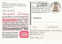 PP 162  Deutsche Philatelisten Jugen E.V. Heinz-Otto Veroort (1.Vorsitzender), Lüdenscheid 1 - Privatpostkarten - Gebraucht