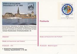 PSo 9  IFSDA-KONGRESS DÜSSELDORF 27.10.1983 - 2. Briefmarken-Verkaufsausstellung Hamburg - Privatpostkarten - Ungebraucht
