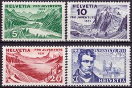 Schweiz Suisse Pro Juventute 1931: Vinet & Vues Zu WI 57-60 Mi 246-249 Yv 250-253 ** MNH (Zu CHF 20.00) - Neufs