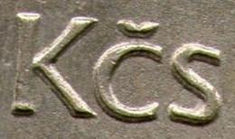 Czechoslovakia, 2 Krune 1974,error Coin, Error Shown On Scan - Czechoslovakia