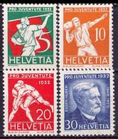 Schweiz Suisse Pro Juventute 1932: E.Huber & Sport Zu WI 61-64 Mi 262-265 Yv 263-266 ** MNH (Zu CHF 20.00) - Neufs