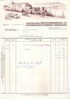 """Rechnung  """"Hungerbühler, Zweibrückenmühle, Bruggen (St.Gallen)""""            1951 - Switzerland"""