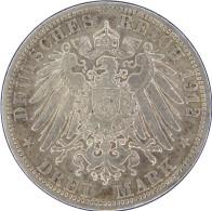 LaZooRo: Germany PRUSSIA 3 Mark 1912 A XF / UNC - Silver - 2, 3 & 5 Mark Silber