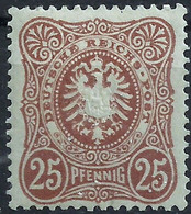 Deutsches Reich 1880 - 25 Pf (*) - Ungebraucht