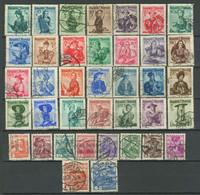 Österreich 1934/1960 ☀ Lot Aus Trachten 38 Verschiedene Werte ☀ Gestempelt - Gebruikt
