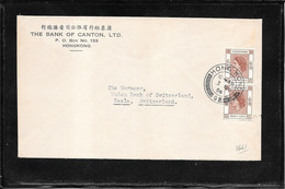 Hong Kong 1954, Cover To Basle ( Ref 2016) - Covers & Documents