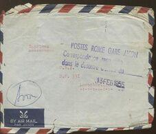 Sinistre Avion à ROMA 13 Fev 1955  Lettre à Destination De Leopoldville  Cachet Arrivée 14 Mars 1955 - Airmail