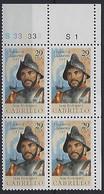 USA  1992  California  (*) Mi.2322  (Pl. Nr. S33333  S1 - Plate Blocks & Sheetlets