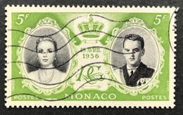 MCO0476U - Wedding Of Prince Rainier III And Grace Kelly - 5 F Used Stamp - Monaco - 1956 - Gebruikt