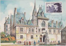 France Carte Maximum 1955 1034  Bourges Palais Jacques Coeur - 1950-59