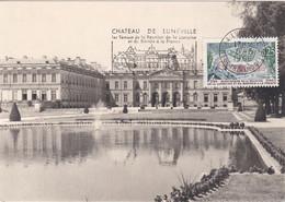France Carte Maximum 1966 1483 Château  De Lunéville Flamme - 1960-69