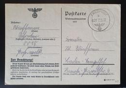 Deutsches Reich FELDPOST 1937, Postkarte Wehrmachtmanöver - Sehr Selten!! - Covers & Documents