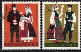 BULGARIA - 1968 - FOLCLORE: COSTUMI REGIONALI - USATI - Gebraucht