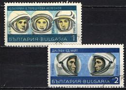 BULGARIA - 1967 - ASTRONAUTI - I PRIMI ASTRONAUTI - USATI - Gebraucht